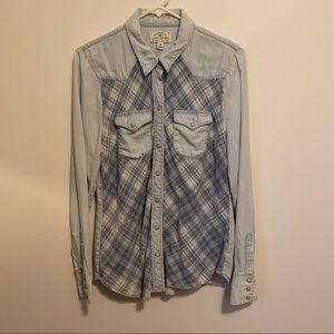 Handcrafted Lucky brand 100% cotton button up
